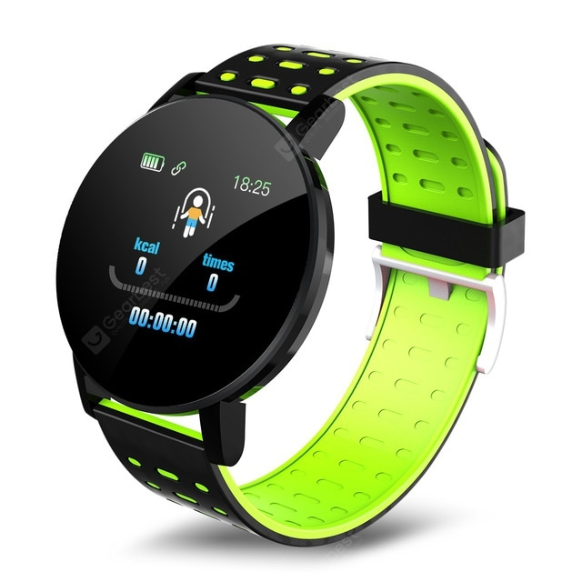 """119 Plus Wristband Heart Rate Smart Watch Man Smart Bracelet Sports Smart Band Waterproof Smartwatch Android With Alarm Clock"" 2"