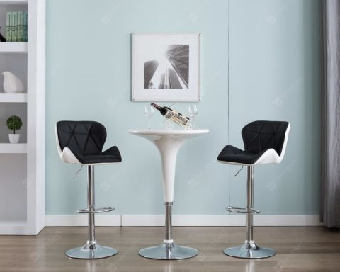 """Bar Stool Faux Leather Mulicolor"" 28"