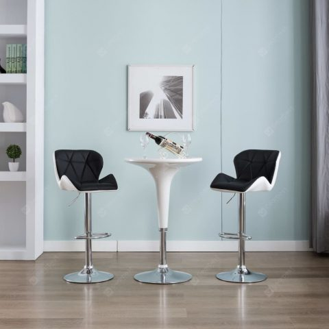 """Bar Stool Faux Leather Mulicolor"" 21"