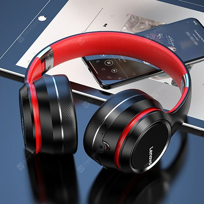 """Lenovo HD200 Bluetooth Headphone Wireless Bluetooth Headphones Stable Transmission Noise Reduction"" 30"
