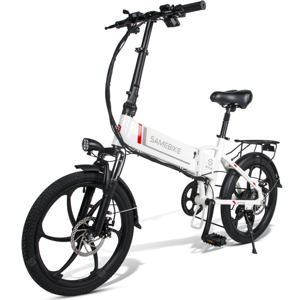 """Samebike 20LVXD30 Smart Folding Electric Moped Bike E-bike 350W 35km Per Hour"" 32"