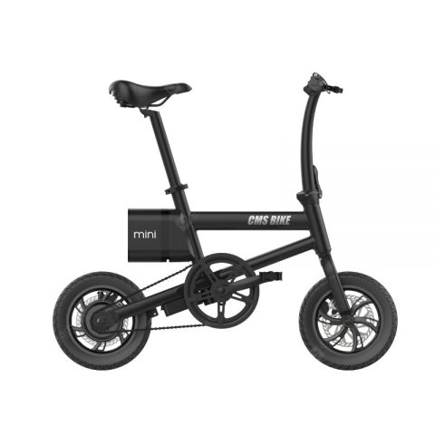 """CMSBIKE Smart Folding Electric Bike 250W 36V 12 Inch Stable Tires 25km/h Max Speed Foldable Electric Bicycle With LED Power"" 28"