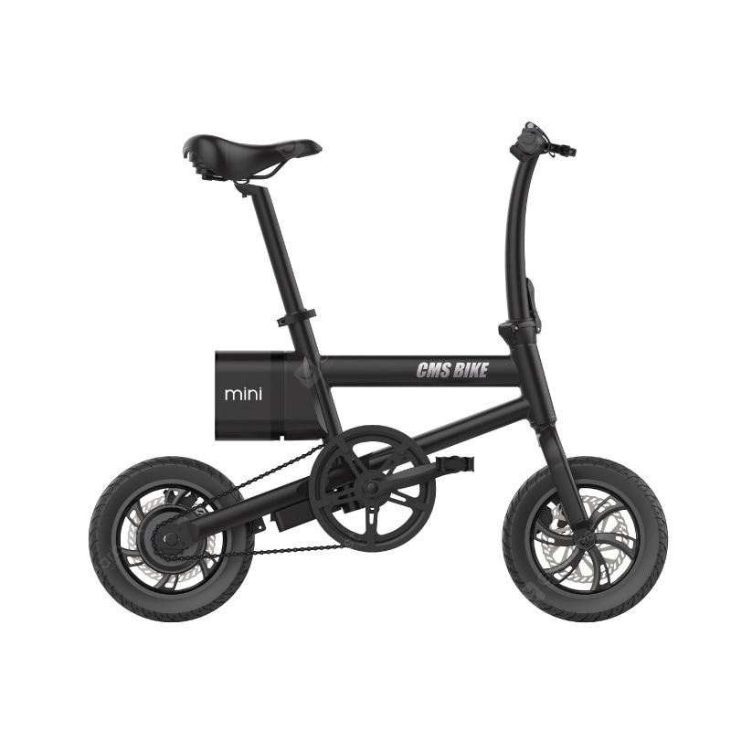 """CMSBIKE Smart Folding Electric Bike 250W 36V 12 Inch Stable Tires 25km/h Max Speed Foldable Electric Bicycle With LED Power"" 172"