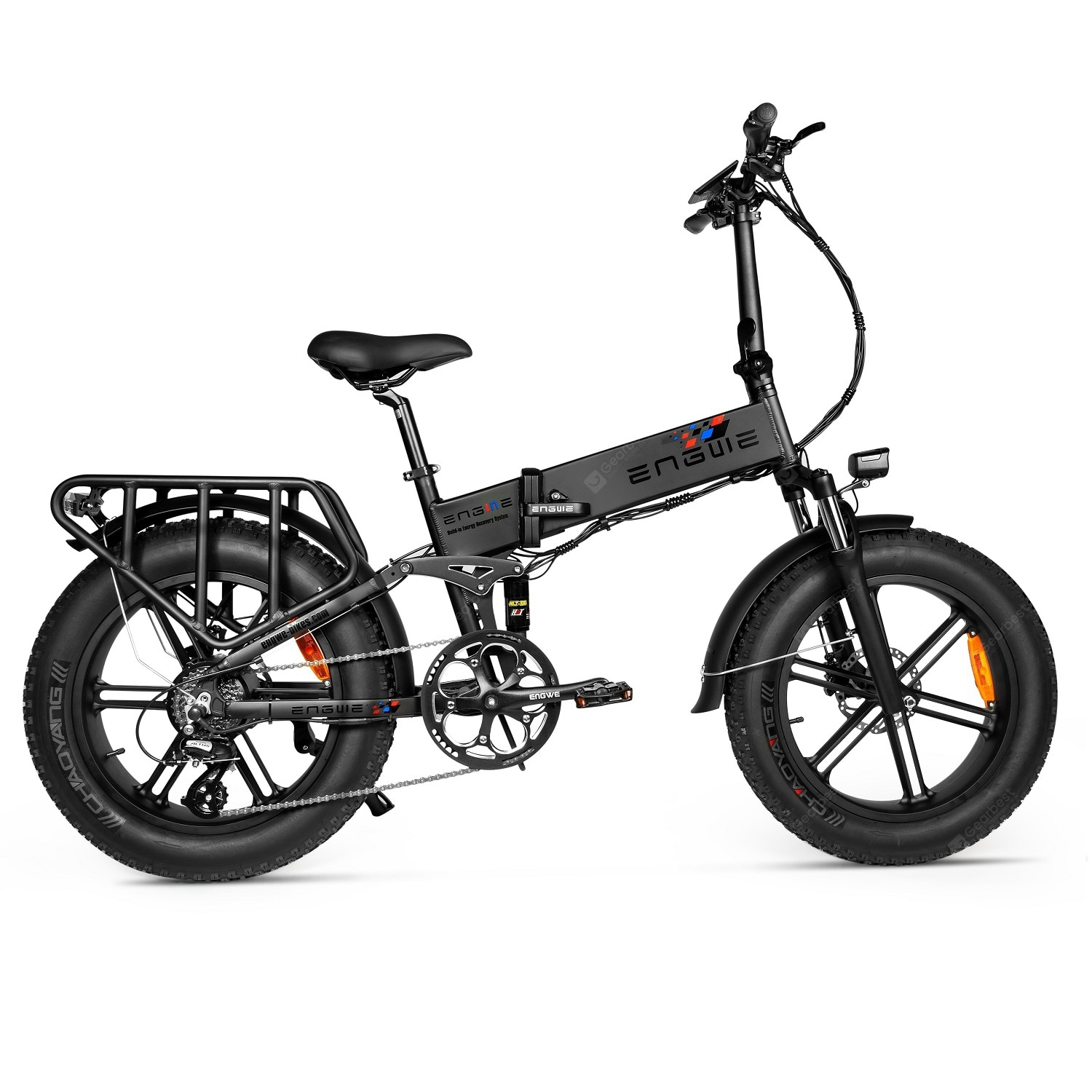 """ENGWE ENGINE PRO 750W Folding Fat Tire Electric Bike with 12.8Ah Battery and Hydraulic Suspension"" 127"