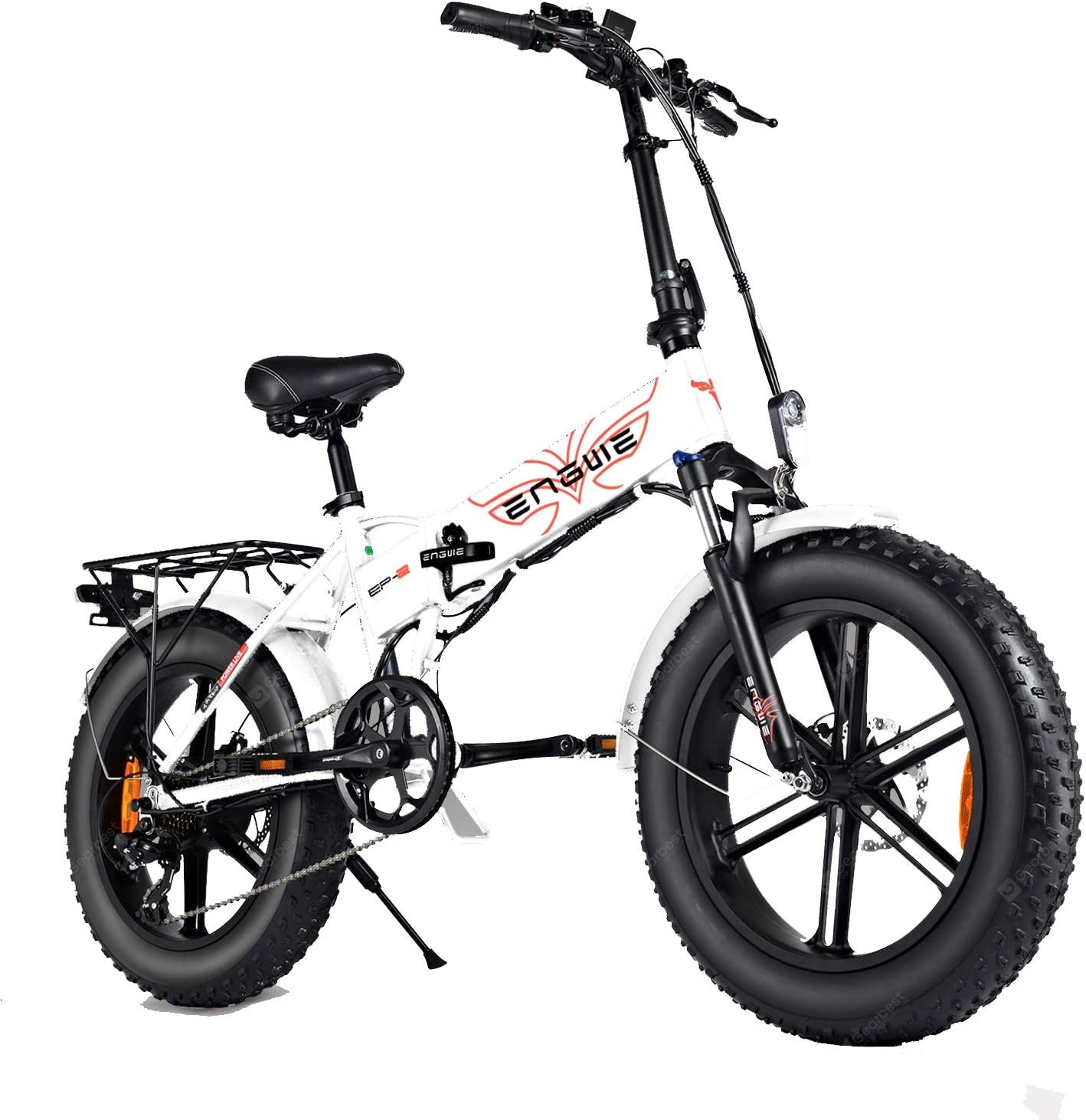 """ENGWE EP-2 PRO 750W Folding Fat Tire Electric Bike with 48V 12.8Ah Lithium-ion Battery"" 2"