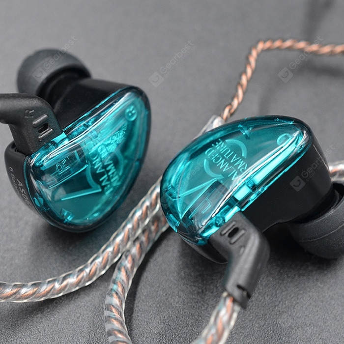"""KZ KZ AS06 Moving Iron Headphone 6 Unit Balance Moving Iron In-Ear Music Sports Wire Control Universal Computer Earphones"" 1"
