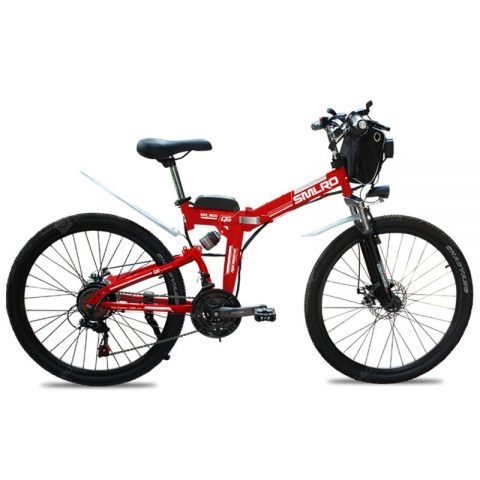 """Smlro MX300 Shimano 21 Speed 500W 48V 13AH Electric Bicycle 26 inch Wheel Folding Electric Bike High Quality Fashion E-Bike"" 6"