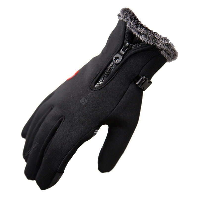 """""""Winter Gloves Riding Waterproof Plus Velvet Thick Warm Gloves Hiking Outdoor Sports Ski Gloves Cold Thickening"""" 154"""